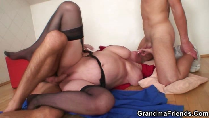 Sex Movie of Granny Sucks Whipped Cream Off Cocks