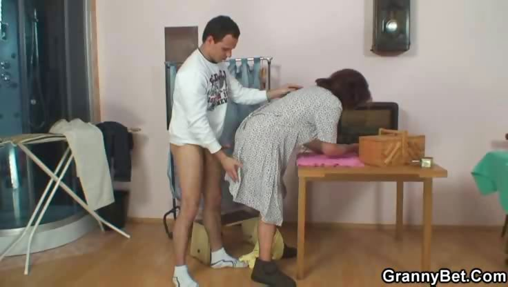 Porno Video of Granny Takes Payment In Hard Dick