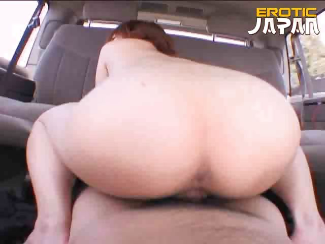 Porno Video of Big Assed Japanese Slut Megumi Kato Fucking A Big Dick On The Backseat