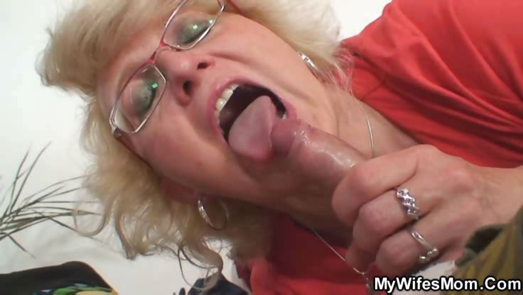Porno Video of Granny In Her Glasses Wants Him