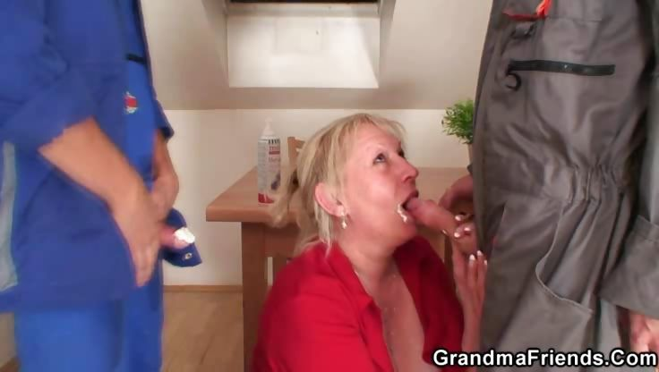 Porno Video of Granny Boned By Two And Loving It
