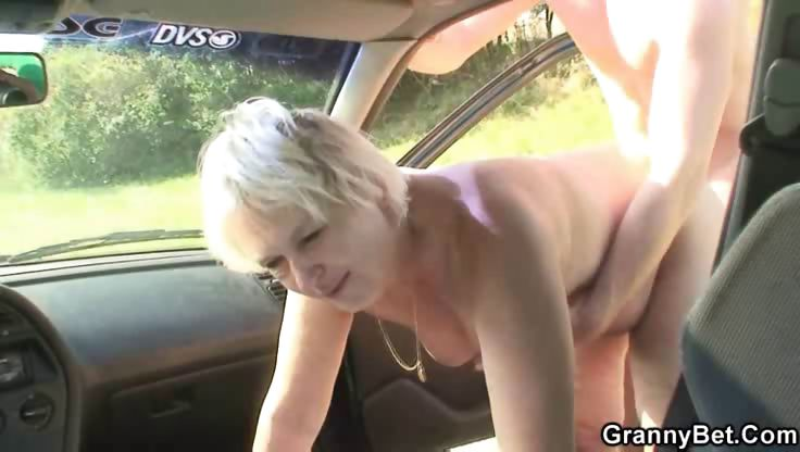 Porno Video of Doggy Style Fucking Granny Outdoors
