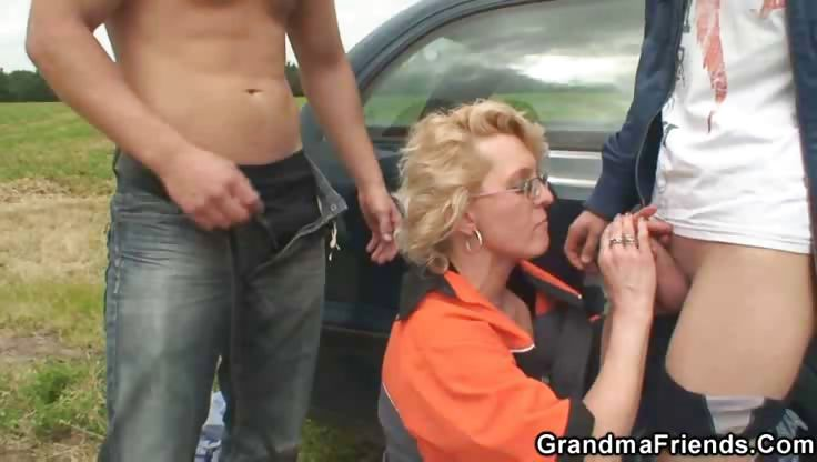 Porn Tube of Gas Station Grandma Fucked In The Country