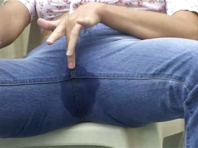 Porn Tube of Peeing Jeans
