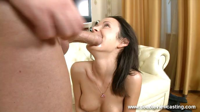 Porn Tube of Adorable Brunette With Nice Perky Tits Gets Her Tight Pussy Screwed By A Throbbing Cock