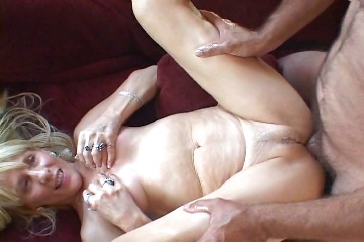 Porn Tube of Mature Blonde Blows Him And Then Gets Both Of Her Holes Banged