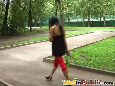 Porno Video of Pee-sodden Leggings