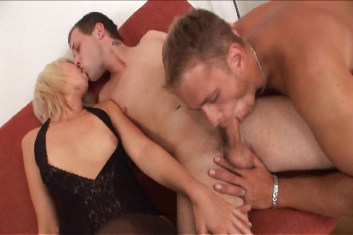 Porn Tube of Hot Blonde Milf Wants To Get Hammered But Has To Share A Cock With Her Man In A Bisexual Threesome