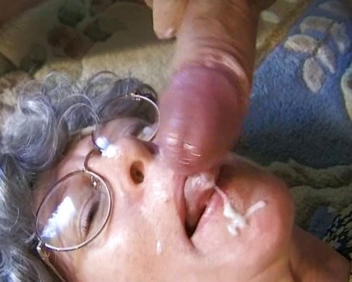 Porn Tube of Old Granny Eats His Cock, Gets Drilled And Has A Messy Facial