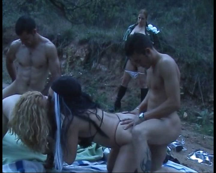Porno Video of Naughty Mistress Makes Two Couples Fuck Outdoors In The Woods