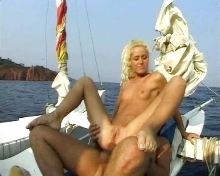 Porno Video of Curly Blonde Hottie And Her Boyfriend Fuck Each Other On Their Yacht