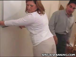 Porn Tube of Office Lady Ass Belt Spanked