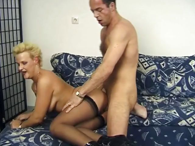 Porno Video of Blonde German Milf In High Heels Gets Fucked From The Side