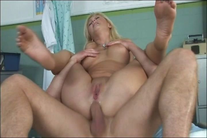 Porn Tube of Busty Blonde Nicole Eats Cock And Gets Both Holes Drilled In Jail
