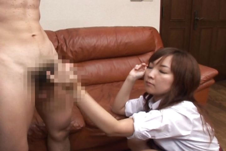 Porno Video of Japanese Schoolgirl Goes Over And Watches Him Masturbate And Then Jacks Him Off