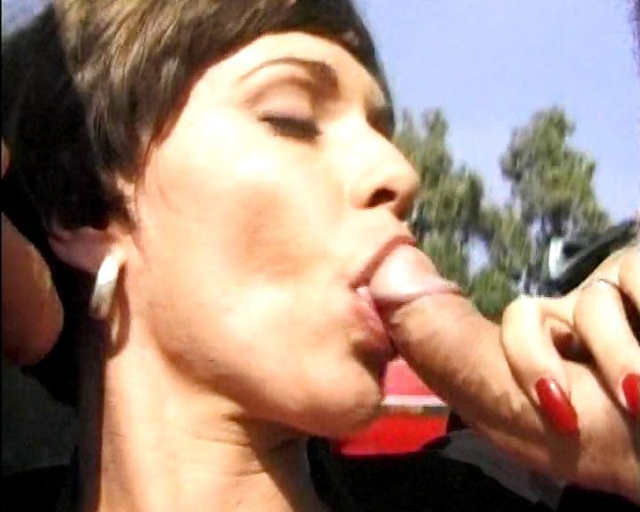Porno Video of Slutty Babe From Germany Bangs Two Hung Guys At A Junkyard